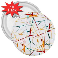 Colorful Splatter Abstract Shapes 3  Button (10 Pack)