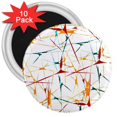 Colorful Splatter Abstract Shapes 3  Button Magnet (10 pack)