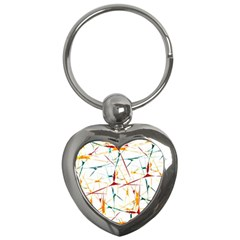 Colorful Splatter Abstract Shapes Key Chain (Heart)