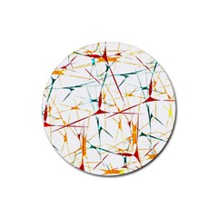 Colorful Splatter Abstract Shapes Drink Coaster (round)