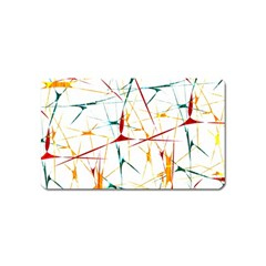 Colorful Splatter Abstract Shapes Magnet (name Card)