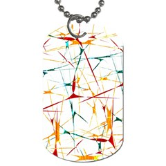 Colorful Splatter Abstract Shapes Dog Tag (one Sided)