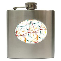 Colorful Splatter Abstract Shapes Hip Flask
