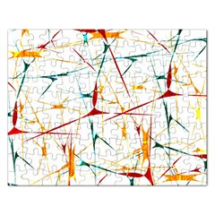 Colorful Splatter Abstract Shapes Jigsaw Puzzle (Rectangle)