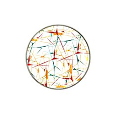 Colorful Splatter Abstract Shapes Golf Ball Marker (for Hat Clip)