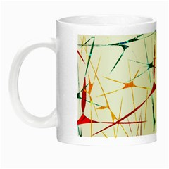Colorful Splatter Abstract Shapes Glow In The Dark Mug