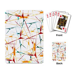 Colorful Splatter Abstract Shapes Playing Cards Single Design