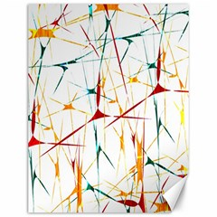 Colorful Splatter Abstract Shapes Canvas 12  X 16  (unframed)