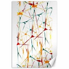 Colorful Splatter Abstract Shapes Canvas 20  x 30  (Unframed)
