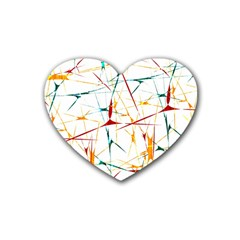 Colorful Splatter Abstract Shapes Drink Coasters 4 Pack (heart)