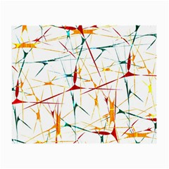 Colorful Splatter Abstract Shapes Glasses Cloth (Small, Two Sided)