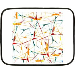 Colorful Splatter Abstract Shapes Mini Fleece Blanket (Two Sided)