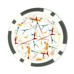 Colorful Splatter Abstract Shapes Poker Chip (10 Pack)
