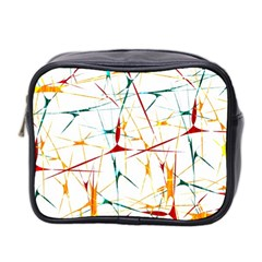 Colorful Splatter Abstract Shapes Mini Travel Toiletry Bag (two Sides)