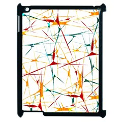 Colorful Splatter Abstract Shapes Apple Ipad 2 Case (black)