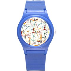 Colorful Splatter Abstract Shapes Plastic Sport Watch (small)