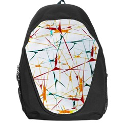 Colorful Splatter Abstract Shapes Backpack Bag