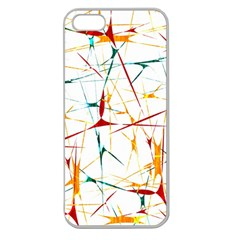 Colorful Splatter Abstract Shapes Apple Seamless Iphone 5 Case (clear)