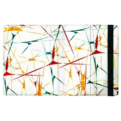 Colorful Splatter Abstract Shapes Apple Ipad 2 Flip Case