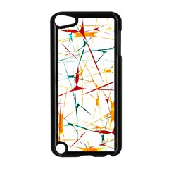 Colorful Splatter Abstract Shapes Apple Ipod Touch 5 Case (black)