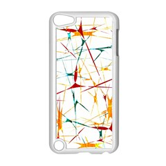 Colorful Splatter Abstract Shapes Apple Ipod Touch 5 Case (white)