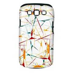 Colorful Splatter Abstract Shapes Samsung Galaxy S III Classic Hardshell Case (PC+Silicone)