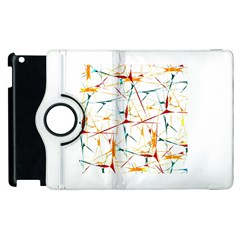 Colorful Splatter Abstract Shapes Apple iPad 2 Flip 360 Case