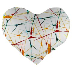 Colorful Splatter Abstract Shapes 19  Premium Heart Shape Cushion