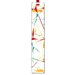 Colorful Splatter Abstract Shapes Large Bookmark