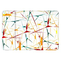 Colorful Splatter Abstract Shapes Samsung Galaxy Tab 8.9  P7300 Flip Case