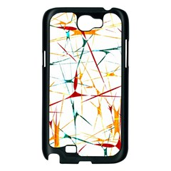 Colorful Splatter Abstract Shapes Samsung Galaxy Note 2 Case (Black)