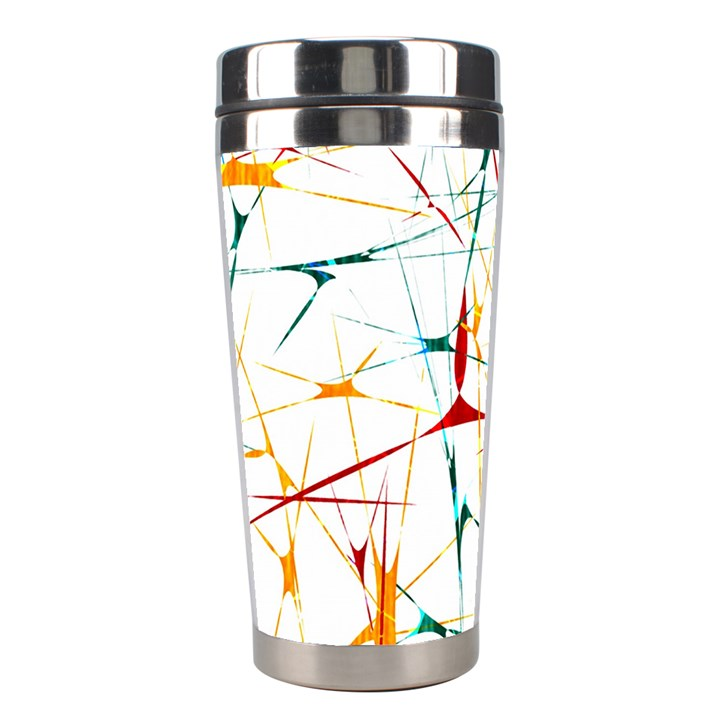 Colorful Splatter Abstract Shapes Stainless Steel Travel Tumbler