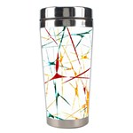Colorful Splatter Abstract Shapes Stainless Steel Travel Tumbler Center