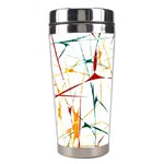 Colorful Splatter Abstract Shapes Stainless Steel Travel Tumbler Right