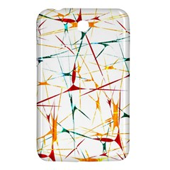 Colorful Splatter Abstract Shapes Samsung Galaxy Tab 3 (7 ) P3200 Hardshell Case