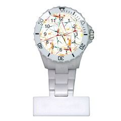 Colorful Splatter Abstract Shapes Nurses Watch
