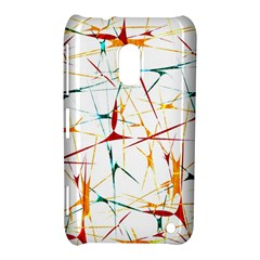 Colorful Splatter Abstract Shapes Nokia Lumia 620 Hardshell Case