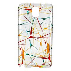 Colorful Splatter Abstract Shapes Samsung Galaxy Note 3 N9005 Hardshell Case