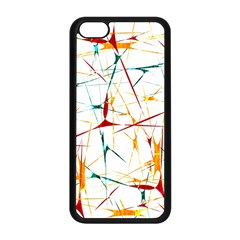 Colorful Splatter Abstract Shapes Apple Iphone 5c Seamless Case (black)