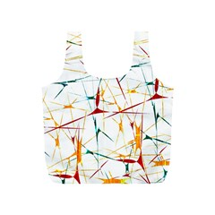 Colorful Splatter Abstract Shapes Reusable Bag (S)
