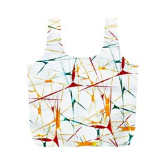 Colorful Splatter Abstract Shapes Reusable Bag (M)
