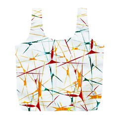 Colorful Splatter Abstract Shapes Reusable Bag (L)