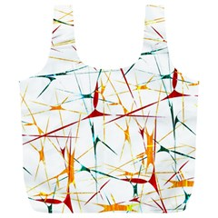Colorful Splatter Abstract Shapes Reusable Bag (XL)