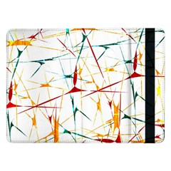 Colorful Splatter Abstract Shapes Samsung Galaxy Tab Pro 12.2  Flip Case