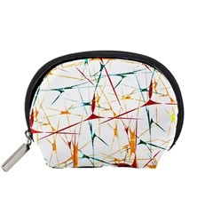 Colorful Splatter Abstract Shapes Accessory Pouch (small)