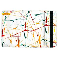 Colorful Splatter Abstract Shapes Apple iPad Air Flip Case