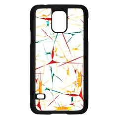 Colorful Splatter Abstract Shapes Samsung Galaxy S5 Case (black)