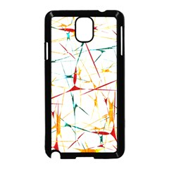 Colorful Splatter Abstract Shapes Samsung Galaxy Note 3 Neo Hardshell Case (Black)