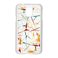 Colorful Splatter Abstract Shapes Samsung Galaxy S5 Case (White)