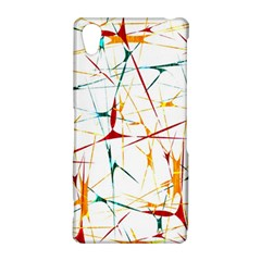 Colorful Splatter Abstract Shapes Sony Xperia Z2 Hardshell Case